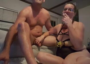 Smoking fetish big tits